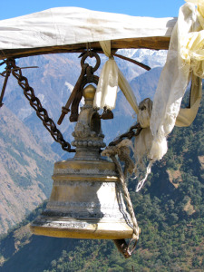 bell at gompa in nepal