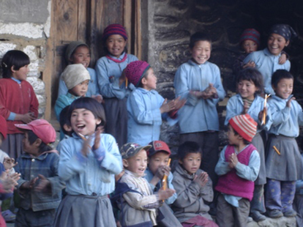 Happy Nepal School Children