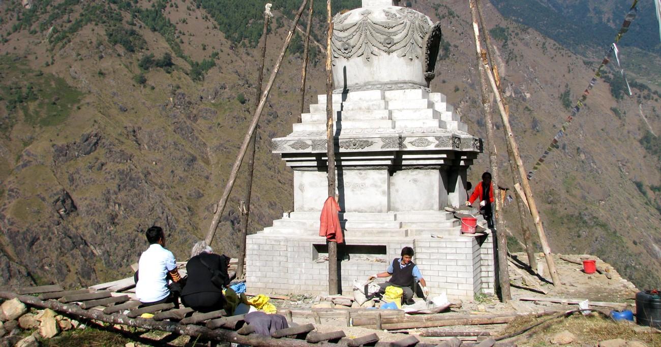 restoration work in Nepal
