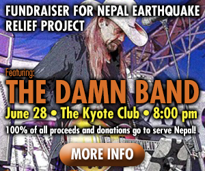 Fundraiser for Nepal June 28, 2015 Featuring The Damn Band