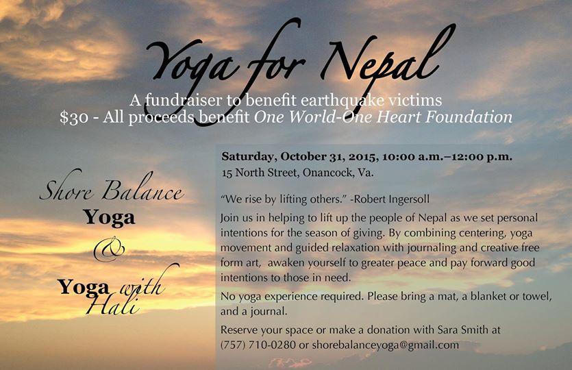 Shore balance yoga fundraiser