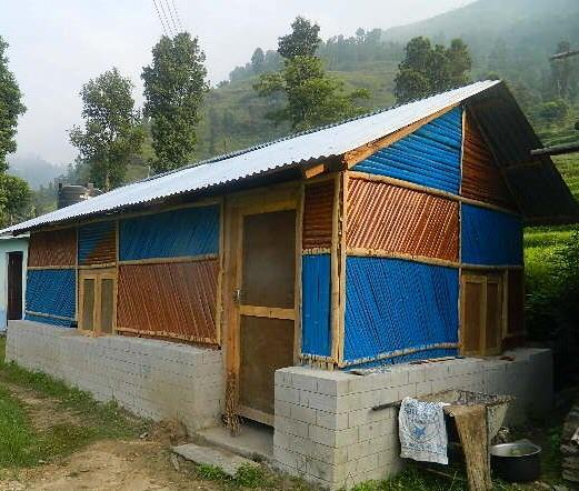 temporary shelter in Nepal