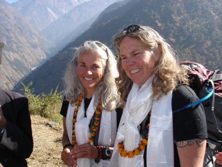 One World One Heart Co Founders joey and karla in Nepal.