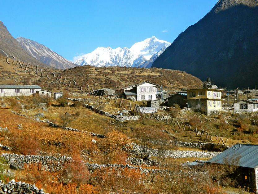 langtang village Nepal before 2015 earthquake.