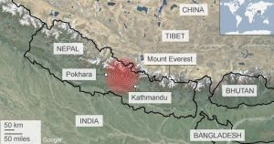 Nepal map by Google
