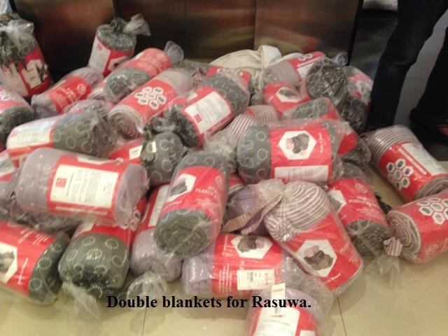 blankets for Nepal.