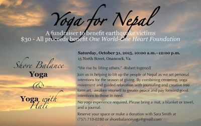 Halloween Yoga Session to Benefit Nepal Earthquake Relief Efforts